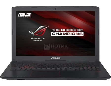 Фотография товара ноутбук ASUS ROG GL552VX-DM365T (15.6 TN (LED)/ Core i5 6300HQ 2300MHz/ 12288Mb/ HDD 1000Gb/ NVIDIA GeForce® GTX 950M 2048Mb) MS Windows 10 Home (64-bit) [90NB0AW3-M04520] (49792)