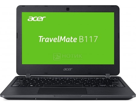 Ноутбук Acer TravelMate B117-M (11.6 LED/ Celeron Dual Core N3060 1600MHz/ 4096Mb/ SSD 32Gb/ Intel HD Graphics 400 64Mb) MS Windows 10 Professional (64-bit) [NX.VCHER.009]