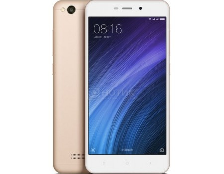 "Смартфон Xiaomi Redmi 4A Gold (Android 6.0 (Marshmallow)/MSM8917 1400MHz/5.0"" 1280x720/2048Mb/16Gb/4G LTE  ) [6954176830319] от Нотик"