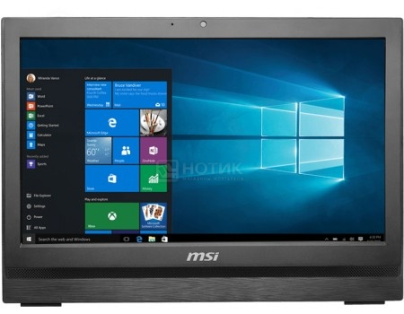 Моноблок AIO MSI Pro 20 6M-018RU (20.0 LED/ Core i3 6100 3700MHz/ 4096Mb/ HDD 1000Gb/ Intel HD Graphics 530 64Mb) MS Windows 10 Home (64-bit) [9S6-AA7811-018]