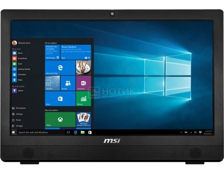 Моноблок MSI Pro 24 6M-020RU (23.6 LED/ Pentium Dual Core G4400 3300MHz/ 4096Mb/ HDD 1000Gb/ Intel HD Graphics 510 64Mb) MS Windows 10 Home (64-bit) [9S6-AE9311-020]