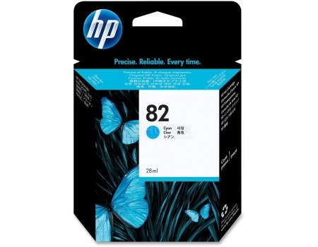 Картридж струйный HP 82 CH566A для HP DJ 510 Голубой CH566A (28мл)