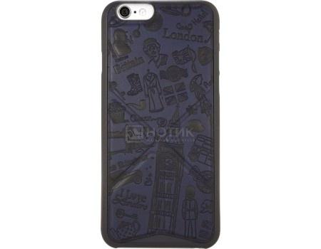 Чехол-накладка для iPhone 6/6s Ozaki O!coat Travel OC550RD,Искусственная кожа, Синий (Рисунок Лондон)