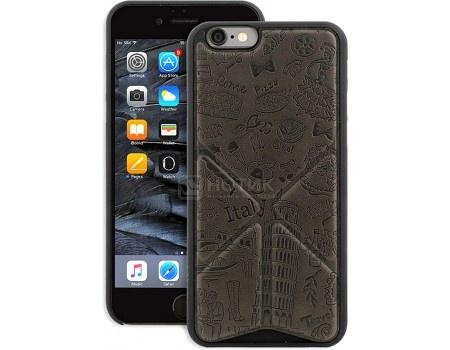 Чехол-накладка для iPhone 6/6s Ozaki O!coat Travel OC571RM,Искусственная кожа, Черный (Рисунок Рим)