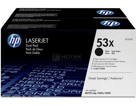 Тонер-картридж HP 53X Q7553XD для HP LJ P2015, Двойная упаковка, Черный Q7553XD 14000стр