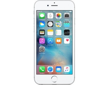 "Фотография товара смартфон Apple iPhone 6s 32Gb Silver (iOS 10/A9 1840MHz/4.7"" 1334x750/2048Mb/32Gb/4G LTE ) [MN0X2RU/A] (50201)"