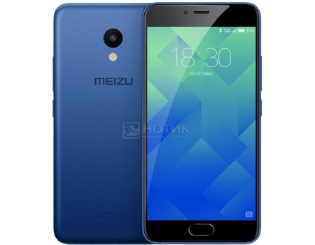 Смартфон Meizu M5 16Gb Blue (Android 6.0 (Marshmallow)/MT6750 1500MHz/5.2 1280x720/2048Mb/16Gb/4G LTE ) [M611H-16-BLUE] смартфон meizu m5 note m621h 16gb серый