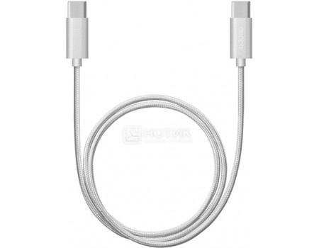 Фотография товара кабель Deppa 72246, USB Type-C - USB Type-C, алюминий/нейлон, 3A, 1,2м, Серебристый (50289)