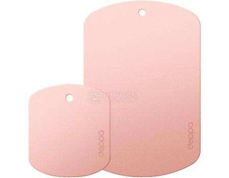 Набор пластин для магнитных держателей Deppa 55141 Crab Plates для смартфонов и планшетов весом до 300гр, магнитный, Розовый