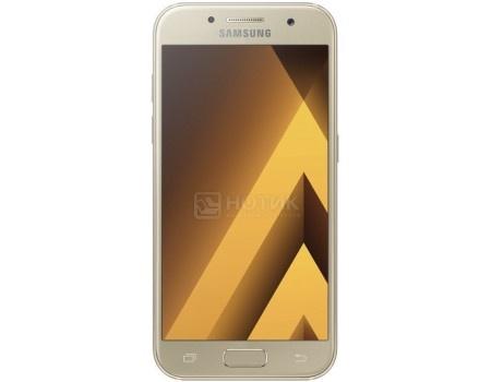 Смартфон Samsung Galaxy A3 2017 SM-A320F Gold (Android 6.0 (Marshmallow)/7870 1600MHz/4.7* 1280x720/2048Mb/16Gb/4G LTE ) [SM-A320FZDDSER], арт: 50422 - Samsung