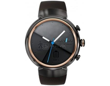 Смарт-часы ASUS ZenWatch 3 WI503Q Gunmetal, Черный металлик (коричневый силиконовый ремешок) WI503Q-1RGRY0011 90NZ0062-M00680 от Нотик