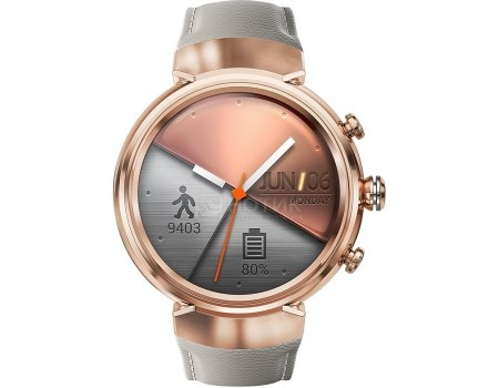 Смарт-часы ASUS ZenWatch 3 WI503Q Rose gold, Розовое золото (бежевый ремешок) WI503Q-3LBGE0005 90NZ0065-M00670 смарт часы asus zenwatch 3 wi503q silver серебристый кожаный ремешек wi503q 2lbge0006 90nz0063 m00160