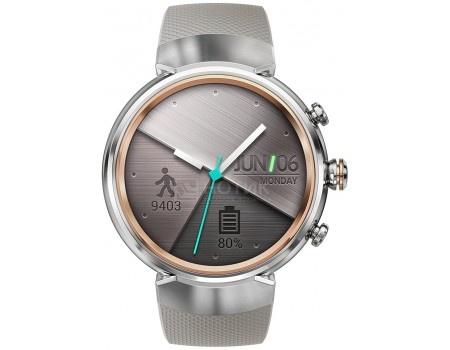 Смарт-часы ASUS ZenWatch 3 WI503Q Silver, Cеребристый (бежевый ремешок) WI503Q-2RBGE0013 90NZ0064-M00690 asus zenwatch 3 wi503q leather