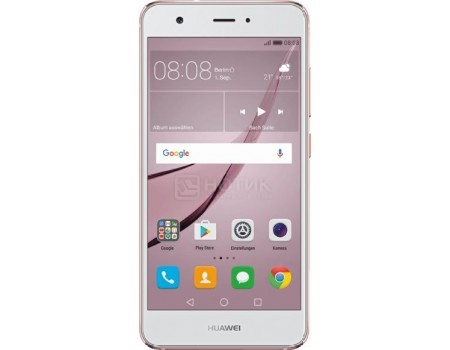 Смартфон Huawei Nova 32Gb Rose Gold (Android 6.0 (Marshmallow)/MSM8953 2000MHz/5.0* 1920x1080/3072Mb/32Gb/4G LTE ) [51091AKX], арт: 50468 - Huawei