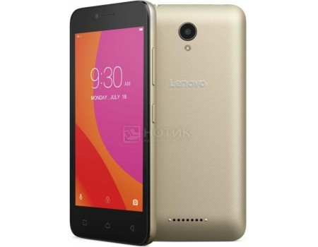Смартфон Lenovo Vibe B A2016A40 Gold (Android 6.0 (Marshmallow)/MT6735M 1000MHz/4.5