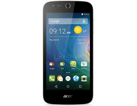 "Смартфон Acer Liquid Z330 White (Android 5.1/MSM8909 1100MHz/4.5"" 854x480/1024Mb/8Gb/4G LTE  ) [HM.HQ0EU.002] от Нотик"
