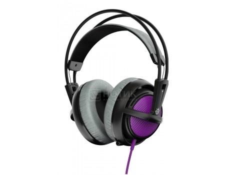 Гарнитура проводная Steelseries Siberia 200 Sakura Purple, Фиолетовый/черный 1.8м 51136
