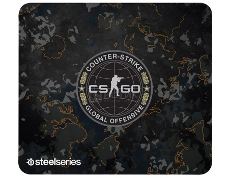 Коврик для мыши SteelSeries QcK+ CS GO Camo Edition, Рисунок 63379 ключи для steam купить cs go за 150 рублей