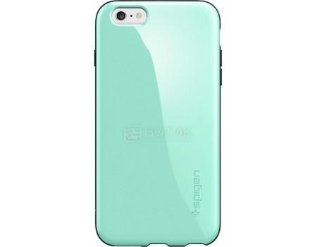 Фотография товара чехол-накладка Spigen SGP для iPhone 6/6s Plus Capella Case SGP11084, Полиуретан/Поликарбонат, Mint, Зеленый (50785)
