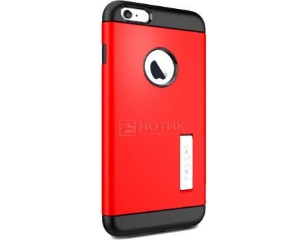 Фотография товара чехол-накладка Spigen SGP для iPhone 6 Plus/iPhone 6s Plus Slim Armor Case SGP10902, Полиуретан/ Поликарбонат, Electric Red, Красный (50789)