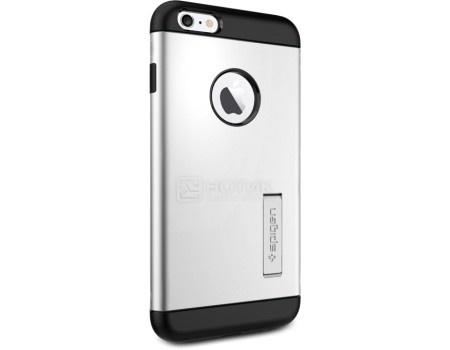 Фотография товара чехол-накладка Spigen SGP для iPhone 6/6s Plus Slim Armor Case SGP10904, Полиуретан/Поликарбонат, Satin Silver, Серебристый (50791)