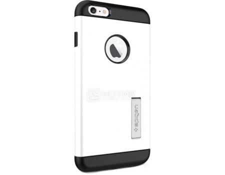 Фотография товара чехол-накладка Spigen SGP для iPhone 6/6s Plus Slim Armor Case SGP10903, Полиуретан/Поликарбонат, Shimmery White, Белый (50792)