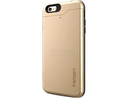 Фотография товара чехол-накладка Spigen SGP для  iPhone 6/6s Plus Slim Armor CS Case SGP10913, Поликарбонат/Термополиуретан, Champagne Gold, Золотистый (50793)