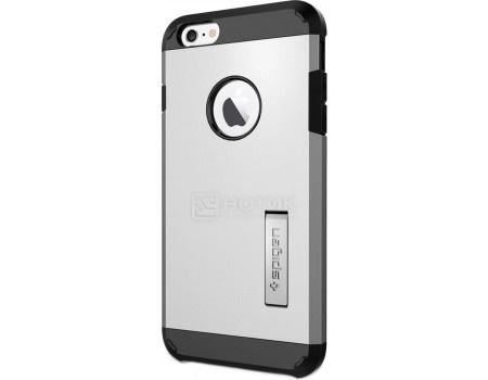 Фотография товара чехол-накладка Spigen SGP для iPhone 6/6s Plus Tough Armor Case SGP10917, Поликарбонат, Satin Silver, Серебристый (50797)