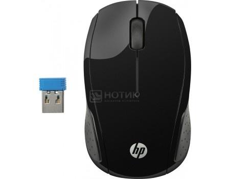 Мышь беспроводная HP 200 Black Wireless Mouse, 1000dpi , Черный X6W31AA