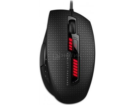 Фотография товара мышь проводная HP X9000 OMEN Mouse, 8200dpi , 6 кнопок, Черный J6N88AA (50860)