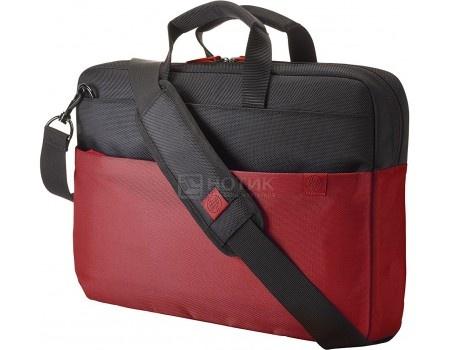 "Сумка 15.6"" HP Duotone Red BriefCase , Y4T18AA, Нейлон, Красный/Черный hp c9456a red"
