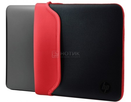 """Фотография товара чехол 15.6"""" HP Chroma Sleeve , V5C30AA, Неопрен, Черный/Красный (50870)"""
