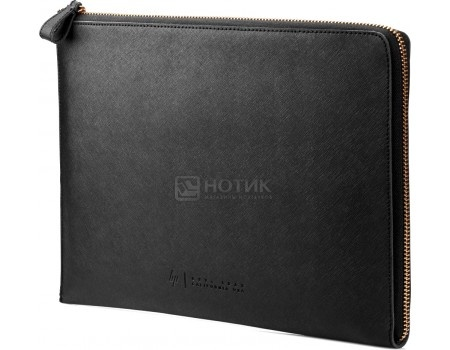 "Чехол 13.3"" HP Spectre Black Leather Sleeve , W5T46AA, Кожа, Черный"