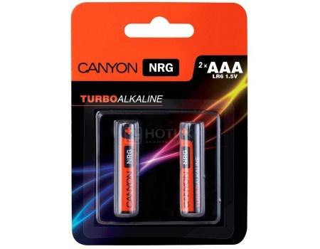Батарейки Canyon NRG alkaline battery AAA (2 штуки) S6ALKAAA2