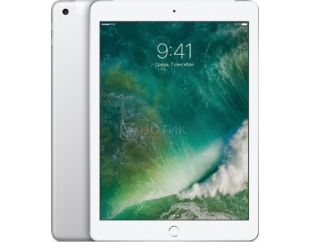 "Планшет Apple iPad 9.7 128Gb Wi-Fi + Cellular Silver (iOS 10/A9 1840MHz/9.7"" 2048x1536/2048Mb/128Gb/4G LTE ) [MP272RU/A]"