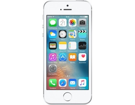 Смартфон Apple iPhone SE 128Gb Silver (iOS 10/A9 1840MHz/4.0* 1136x640/2048Mb/128Gb/4G LTE ) [MP872RU/A], арт: 50922 - Apple