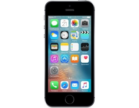 Смартфон Apple iPhone SE 128Gb Space Gray (iOS 10/A9 1840MHz/4.0* 1136x640/2048Mb/128Gb/4G LTE ) [MP862RU/A], арт: 50924 - Apple
