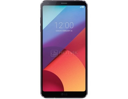 "Смартфон LG G6 H870DS 64Gb Black (Android 7.0 (Nougat)/MSM8996 2350MHz/5.70"" 2880x1440/4096Mb/64Gb/4G LTE ) [LGH870DS.ACISBK]"