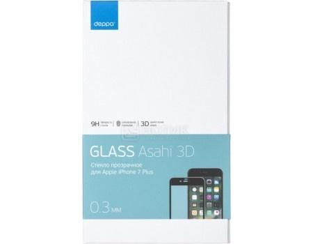 Защитное стекло Deppa для Apple iPhone 7 Plus с рамкой, Черное  62037
