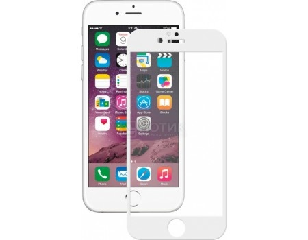 Защитное стекло Deppa для Apple iPhone 6/6S с рамкой, Белый  61996