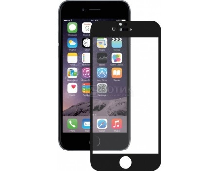 Фотография товара защитное стекло Deppa для Apple iPhone 6/6S Plus с рамкой, Черный  61999 (51092)