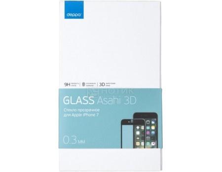 Защитное стекло Deppa для Apple iPhone 7 с рамкой, Белое  62036