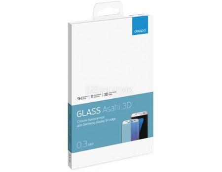 Защитное стекло Deppa для Samsung Galaxy S7 edge с рамкой, Черное  62003