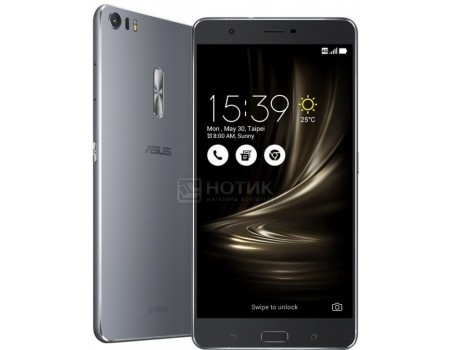 "Фотография товара смартфон ASUS Zenfone 3 Ultra ZU680KL-2H002A Titanium Gray (Android 6.0 (Marshmallow)/MSM8976 1800MHz/6.8"" 1920x1080/4096Mb/64Gb/4G LTE ) [90AK0011-M00020] (51119)"