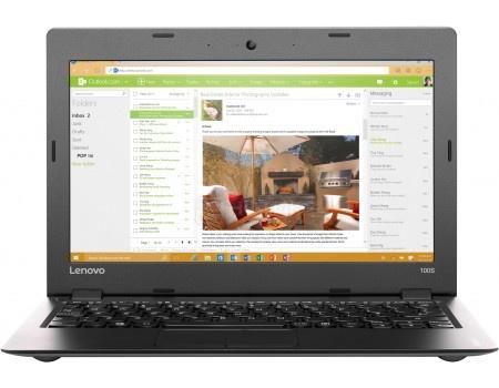 Ноутбук Lenovo IdeaPad 100s-11 (11.6 LED/ Atom Quad-Core Z3735F 1330MHz/ 2048Mb/ SSD 32Gb/ Intel HD Graphics 64Mb) MS Windows 10 Home (64-bit) [80R2007GRK]