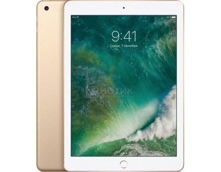 "Фотография товара планшет Apple iPad 9.7 32Gb Wi-Fi Gold (iOS 10/A9 1840MHz/9.7"" 2048x1536/2048Mb/32Gb/ ) [MPGT2RU/A] (51142)"