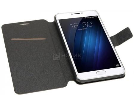 Фотография товара чехол-подставка IT Baggage для смартфона Meizu U10, Искусственная кожа, Черный ITMZU10-1 (51178)