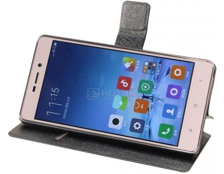 Фотография товара чехол-подставка IT Baggage для смартфона Xiaomi Redmi 3S, Искусственная кожа, Черный ITXMRM3S-1 (51180)
