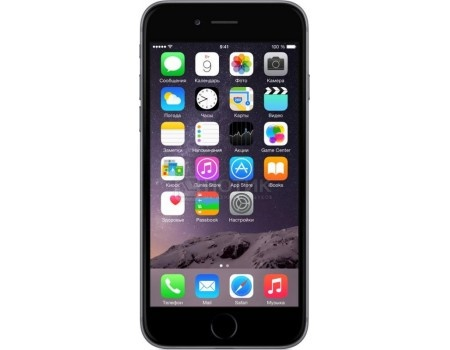 Смартфон Apple iPhone 6 32Gb Space Gray (iOS/A8 1400MHz/4.7* 1334x750/1024Mb/32Gb/4G LTE ) [MQ3D2RU/A], арт: 51213 - Apple