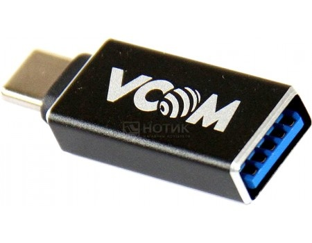 Адаптер VCOM USB Type-C to USB 3.0 A (F), Черный, CA431M от Нотик